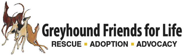Greyhound Friends for Life – Rescue • Adoption • Advocacy Logo