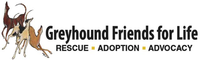 Greyhound Friends for Life – Rescue • Adoption • Advocacy Logo